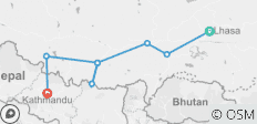 10 days Tour from Lhasa to Everest Base Camp and drive to Kathmandu via Kerung - 8 destinations