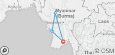 Myanmar Beach Holiday 7 Days - 5 destinations