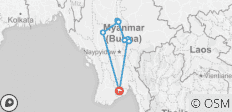 Best of Burma 9 Days - 9 destinations