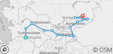 Central Asia Budget Overland Tour - 12 destinations