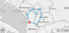 Kosovo, Albania & Macedonia Explorer - 9 destinations