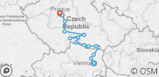 Czech Republic - Vienna to Prague Long Cycling Tour - 16 destinations
