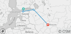 Big Red to Red Star 2018-19 (Moscow via overnight train) - 4 destinations