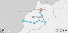 Combined Morocco Tour -10 Days - 13 destinations