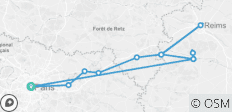 Cruise on the Marne Canal  from Paris to Epernay - 12 destinations