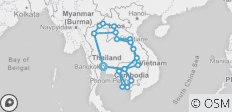 Mekong Freestyle Tour (Thailand, Laos, Cambodia) - 41 destinations