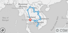 Mekong Freestyle Tour (Thailand, Laos, Cambodia) - 19 destinations