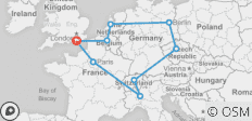 Christmas & New Year 10 Day European Tour - From Brighton - 9 destinations