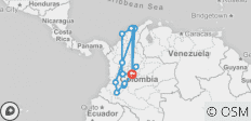 Colombia Encompassed - 16 destinations