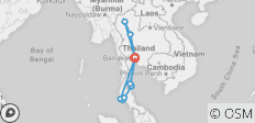 Complete Thailand Express Ways (from Bangkok / Anticlockwise) - 10 destinations
