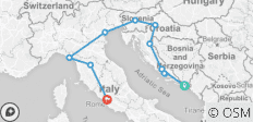 Dubrovnik to Rome - 11 destinations