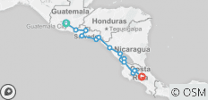 Real Guatemala to Costa Rica - 14 destinations