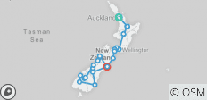 New Zealand Splendour (from Auckland to Christchurch) - 24 destinations
