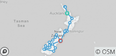 Best of New Zealand (from Auckland to Christchurch) - 34 destinations