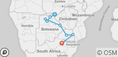 Falls to Joburg - 12 days - 8 destinations