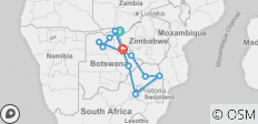 Falls to Joburg - 12 days - 11 destinations