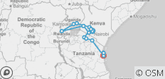 Gorilla Trek and Tanzania - 25 days - 14 destinations