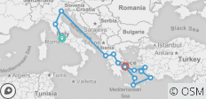 Map Of Italy Greece And Turkey.9 Best Greece Italy And Turkey Tours Trips 2019 2020 With 79