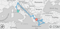 Best of Italy and Greece (14 Days) - 15 destinations