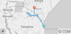 Stone Town to Nairobi - 10 destinations
