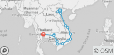 Cycle South East Asia - 17 destinations