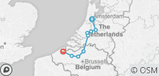 Amsterdam to Bruges - Deluxe - 9 destinations