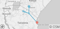 Serengeti to Zanzibar - 6 destinations