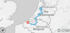 Amsterdam to Bruges - Comfort - 14 destinations
