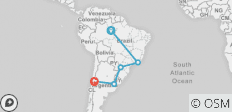 Brazil, Argentina & Chile Unveiled with Brazil\'s Amazon - 5 destinations