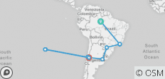 Brazil, Argentina & Chile Unveiled with Brazil\'s Amazon & Easter Island (from Manaus to Santiago) - 20 destinations