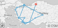 Turkey Discovered - 14 Days - 20 destinations