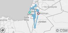 Biblical Israel with Jordan - Faith-Based Travel - Protestant Itinerary (from Tel Aviv to Amman) - 22 destinations