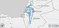 Biblical Israel with Jordan - Faith-Based Travel – Protestant Itinerary - 22 destinations