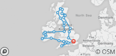 Grand Tour of Britain & Ireland - 37 destinations