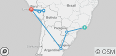 Grand Tour of South America with Peru\'s Amazon - 18 destinations