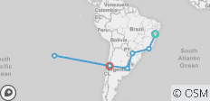 Brazil, Argentina & Chile with Salvador & Easter Island - 7 destinations