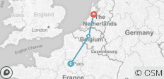 Paris, Brussels and Amsterdam Tour  - 3 destinations