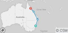 Sydney to Great Barrier Reef Tour - 8 destinations
