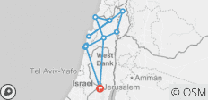 Coastal & Northern Israel - 5 Days - 13 destinations