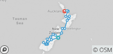 Amplified NZ Tour in reverse - 26 destinations