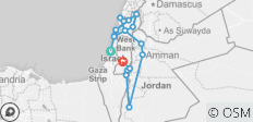 Best of Israel and Jordan - 10 Days - 17 destinations