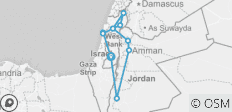Northern Israel and Jordan 5 Day Loop - 12 destinations