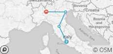Rome to Milan Adventure Tour - 4 destinations