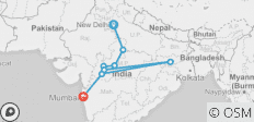 Central India with Mumbai - 8 destinations