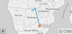 Zimbabwe Victoria Falls & Chobe Fly-in Safari - 5 destinations