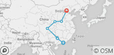 Hong-Kong to Beijing - 7 destinations