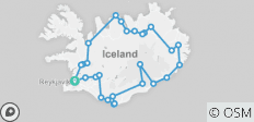 6 Day - Around Iceland Adventure - 28 destinations