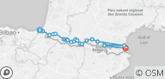 Raid Pyrenean Coast to Coast Ride - 22 destinations
