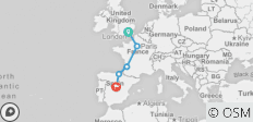 Southern Runner (from London to Madrid) - 5 destinations