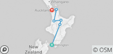 North Island Adventure Tour in reverse - 6 destinations